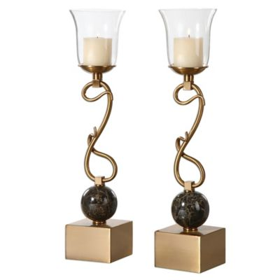 Uttermost Attila Candleholders in Bronze (Set of 2)