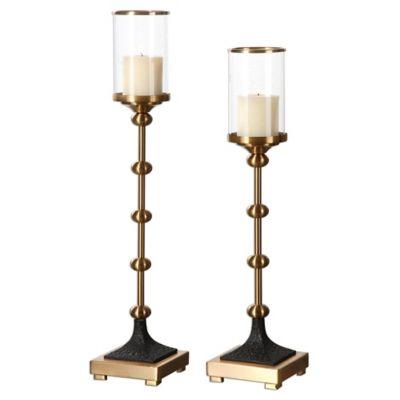 Uttermost Santona Brass Candleholders (Set of 2)