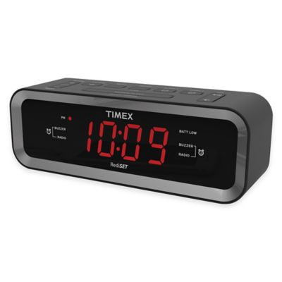 Timex® AM/FM Dual Alarm Clock Radio with USB Charge Port