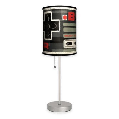 "Carlos Ramos ""BA Select Start"" Table Lamp in Silver with Fabric Shade and CFL Bulb"