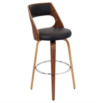 LumiSource Cecina Barstool in Walnut/Brown