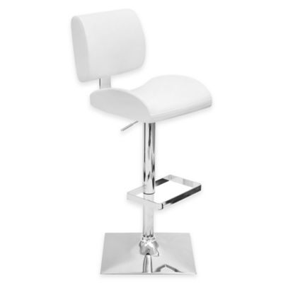 LumiSource Locust Bar Stool in White
