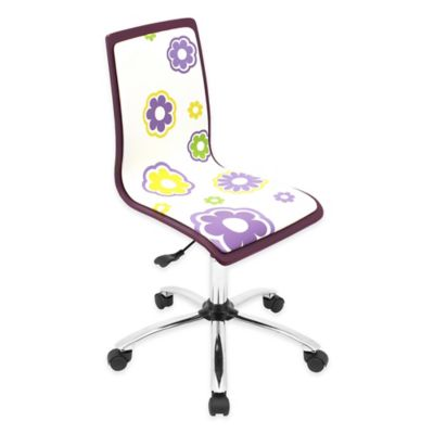LumiSource Circles Printed Office Chair in Black