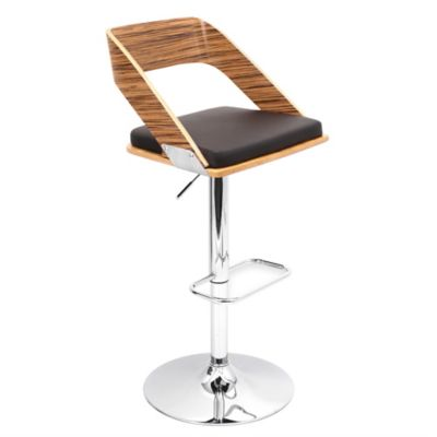 LumiSource Vuno Height Adjustable Barstool in Black