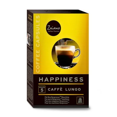 Zuiano 10-Count Happiness Nespresso® Compatible Caffe Lungo Capsules