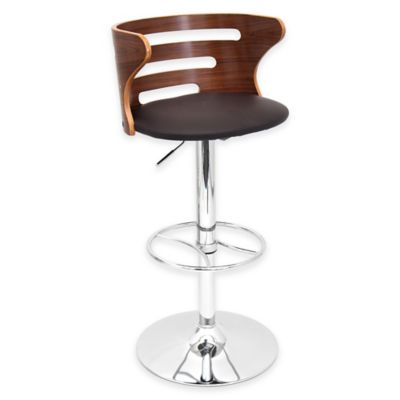 LumiSource Cosi Barstool in Walnut