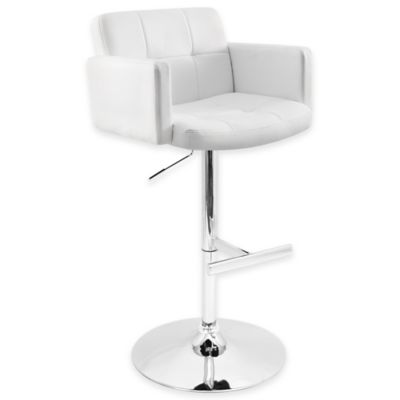 The LumiSource Stout Barstool in White