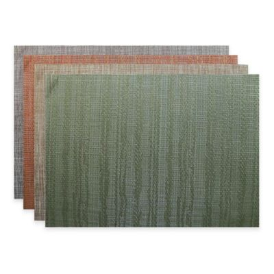 Radiant Woven Vinyl Placemat in Moss