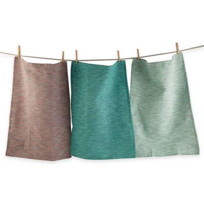 Oceanic Waffle Weave Dish Towels (Set of 3)