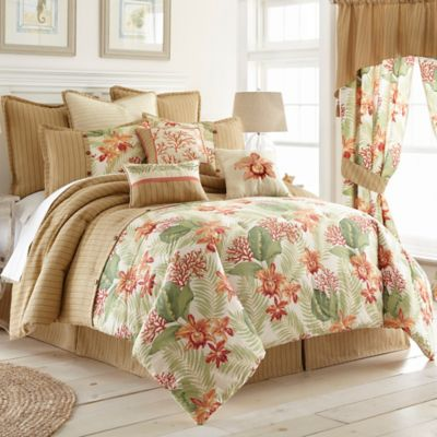 Coral Beach Queen Comforter Set