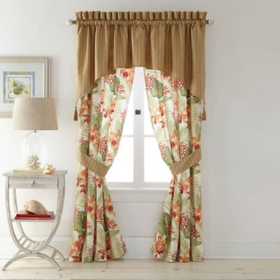 Coral Beach Tailored Window Valance