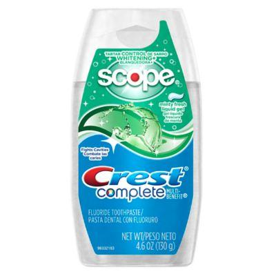 Crest® 4.6 oz. Tartar Control Whitening Plus Scope Liquid Gel Toothpaste in Minty Fresh