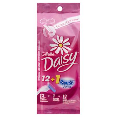 Gillette® 12-Count Daisy Classic Disposable Women's Razors + 1 Simply Venus Pink Razor