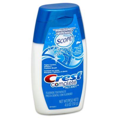 Crest® Complete Multi-Benefit® 4.6 oz. Plus Scope Liquid Gel Toothpaste in Cool Peppermint