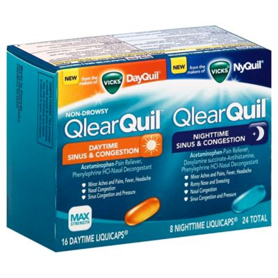 Vicks® QlearQuil™ 24-Count Sinus and Congestion Relief Day or Night