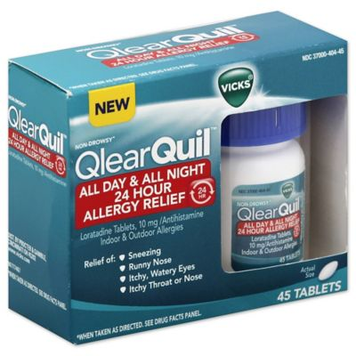 Vicks® QlearQuil™ 45-Count All Day and All Night 24 Hour Allergy Relief Tablets