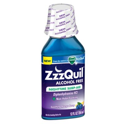 Vicks® ZzzQuil™ 12 oz. Alcohol Free Nighttime Sleep-Aid Liquid in Mango Berry