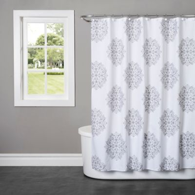 Gray Cotton Shower Curtains
