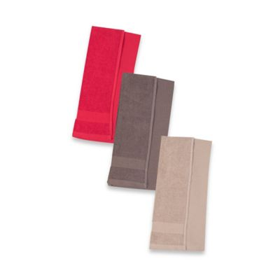 Reversible 4-Pack Waffle Knit Kitchen Towels in Red