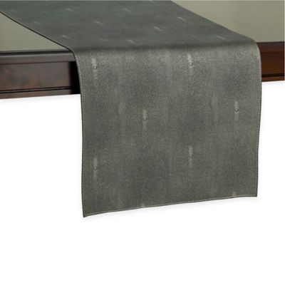 Kenneth Cole Reaction Home Sutton 72-Inch Table Runner in Charcoal