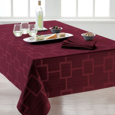Origins™ Tribeca Microfiber 60-Inch x 84-Inch Oblong Tablecloth in Wine