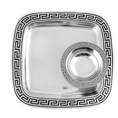 Wilton Armetale® Greek Key Chip and Dip