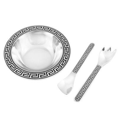 Wilton Armetale® Greek Key 3-Piece Salad Set