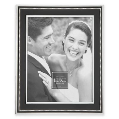Reed & Barton® Luxe Collection 4-Inch x 6-Inch Facets Picture Frame in Black/Chrome