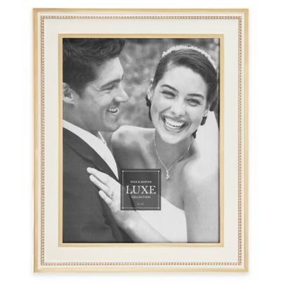 Reed & Barton® Luxe Collection 8-Inch x 10-Inch Facets Picture Frame in White/Gold