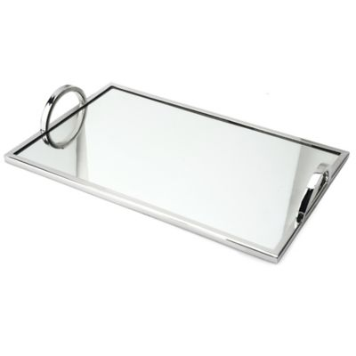 Classic Touch Relic Small Mirrored Tray