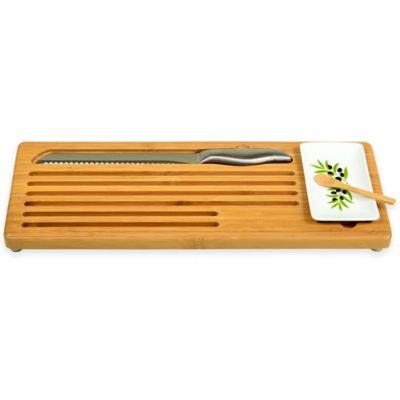 Picnic At Ascot Bread and Dip Board Set