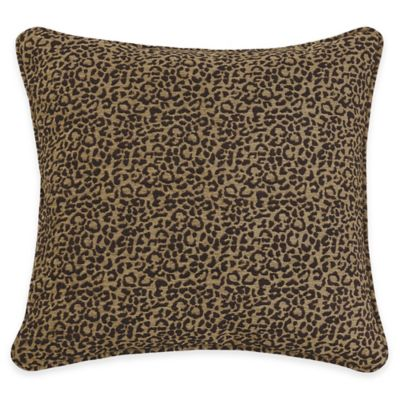 HiEnd Accents San Angelo Leopard European Pillow Sham in Black/Tan