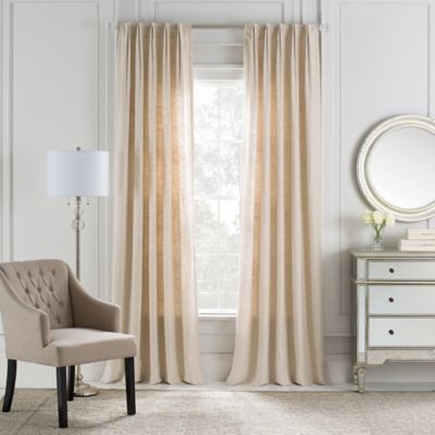 Cambria® Malta Euro Pleat 84-Inch Back Tab Window Curtain Panel in Parchment