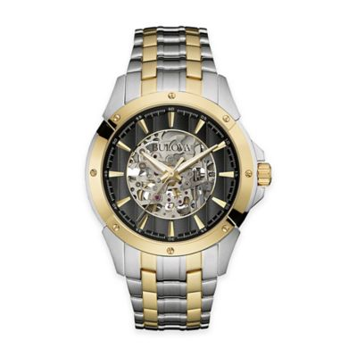 Bulova Men's Automatic Dress Watch in Two-Tone Stainless Steel