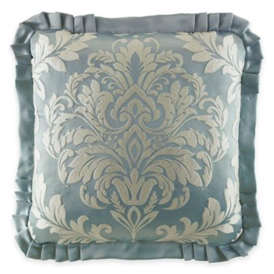 French Blue Throw Pillows : J. Queen New York Kingsbridge Square Throw Pillow in French Blue - Bed Bath & Beyond