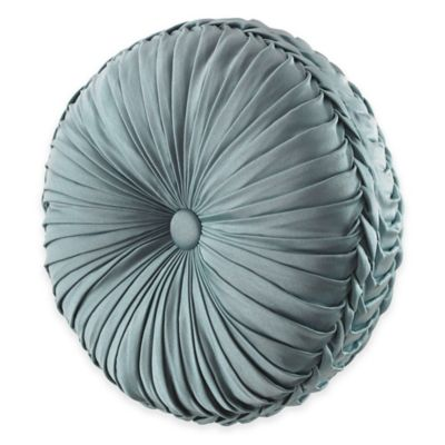 J. Queen New York™ Kingsbridge Tufted Round Throw Pillow in French Blue