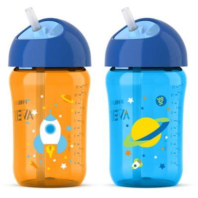 AVENT 2-Pack 12 oz. My Twist n Sip Cup in Orange/Blue