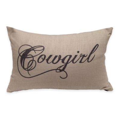 HiEnd Accents Crestwood Cowgirl Oblong Throw Pillow