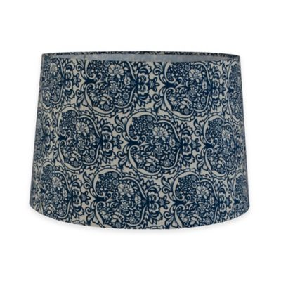 10-Inch Hardback Drum Lamp Shade in Tropical Blue
