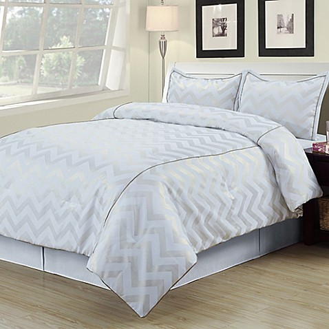 White And Gold Bedroom Set : Buy Cadence Twin Comforter Set in White/Gold from Bed Bath & Beyond