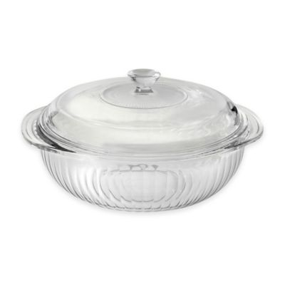 Pyrex Glass 2 qt. Casserole Dish with Glass Lid