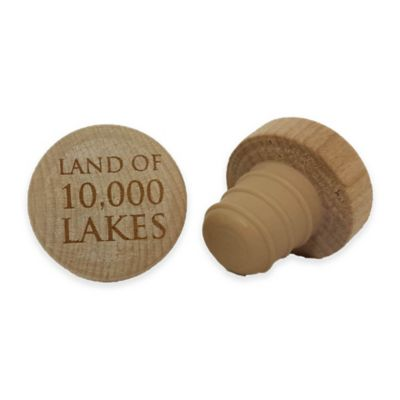 "WineO ""Land of 10,000 Lakes"" Wine Stopper"