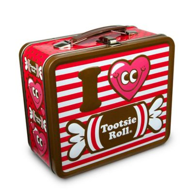 I Heart Tootsie Roll Red Stripe Lunch Box