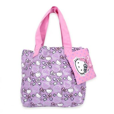 Hello Kitty® Tote Bag with Coin Purse in Pink/Purple