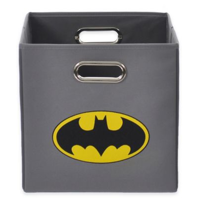 Modern Littles Batman Folding Storage Bin in Grey