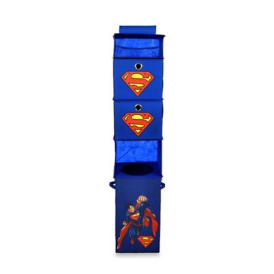 Modern Littles Superman Hanging Closet Organizer