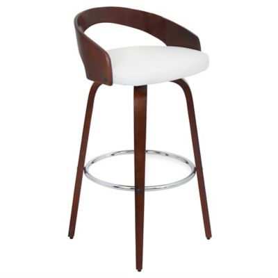 LumiSource Grotto Barstool in Walnut/Brown