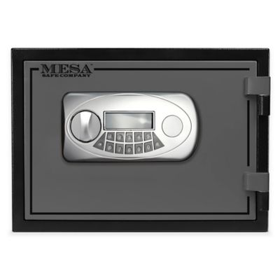 Mesa Safe Company Steel UL Classified Fire Resistant Wall Safe with Electronic Lock in Black/Grey