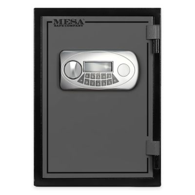 Mesa Safe Company Steel UL Classified Fire Resistant Safe with Electronic Lock in Black/Grey
