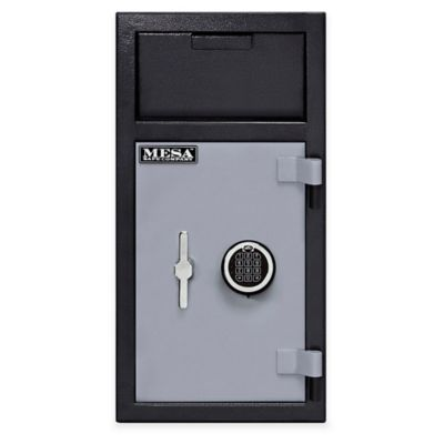 Mesa Safe Company Steel Depository Safe with Interior Locker in Grey